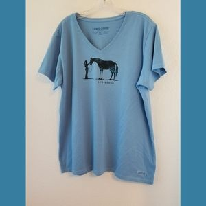Life is Good Crusher Horse Graphic SS Tshirt XL